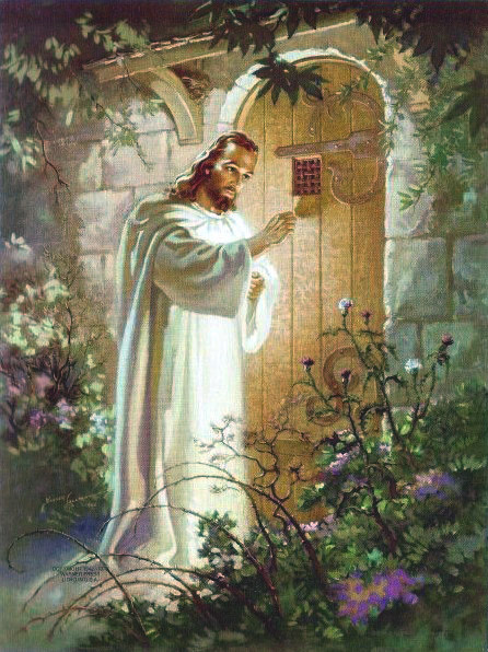 Jesus knocking on the door of the heart.