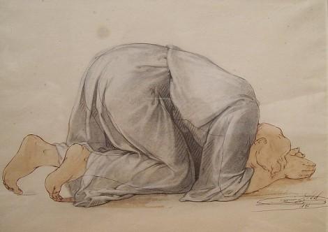On Face in Prayer