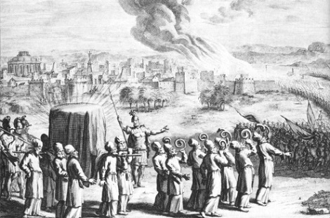Ark with Trumpets Against Jericho