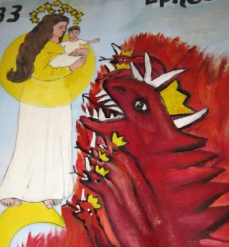 Red dragon to devour man child