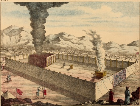 Old Testament Tabernacle with Smoke