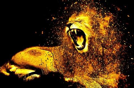 beast roaring in pain
