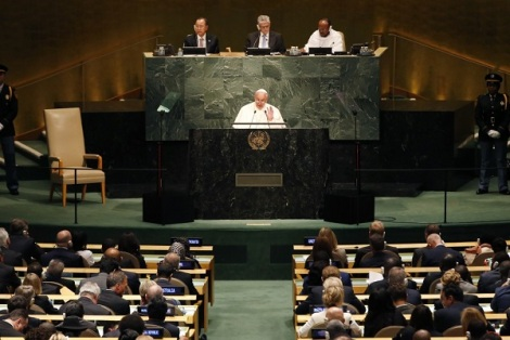 Pope speaking to United Nations
